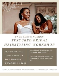 Textured Hair Bridal Workshop