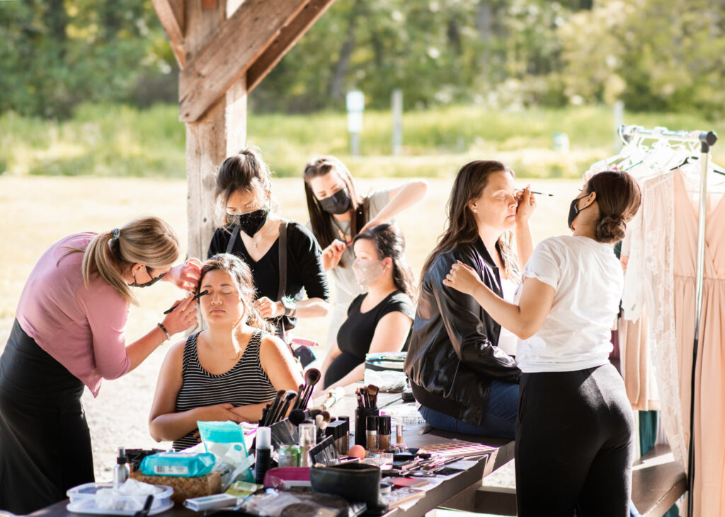 behind the scenes hair and makeup photoshoot